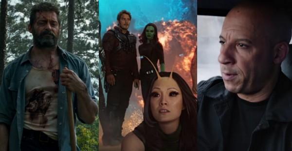 Logan, Guardiões da Galáxia e Velozes e Furiosos (Foto: Reprodução)