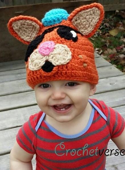 Gorro de raposa (Foto: Reprodução Crochetverse)
