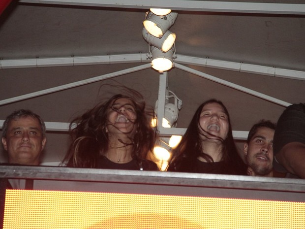 Ana Morais assiste a show no Rock in Rio (Foto: Isac Luz / EGO)