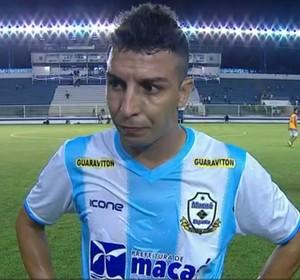 Danilo, meia do Macaé (Foto: Reprodução TV Globo)