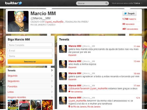 Twitter do namorado da Mulher Filé (Foto: Reprodução Twitter)