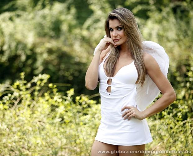 A bailarina diz que não tenta ser sensual na sua participação (Foto: Pedro Curi / TV Globo)