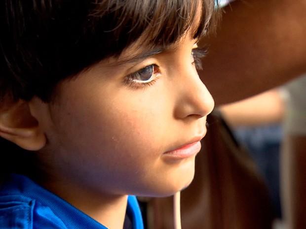 Família faz campanha para arrecadar dinheiro para que o pequeno Matheus possa realizar transplante nos EUA (Foto: Reprodução/TV Globo)