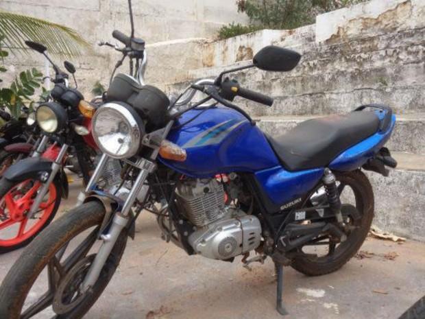 Moto está entre veículos que serão leiloados na Bahia (Foto: Divulgação / Detran)