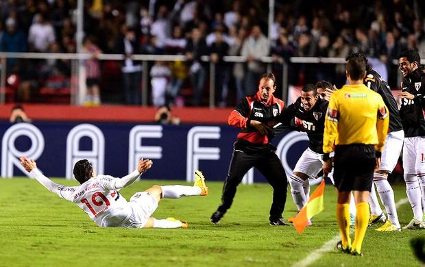 Aloísio gol São Paulo Corinthians Recopa (Foto: Marcos Ribolli / Globoesporte.com)