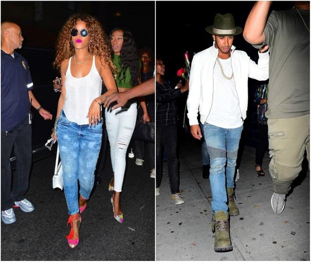Rihanna e Lewis Hamilton (Foto: AKM-GSI)