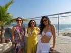 Sthefany Brito, Martha Nieto e Moro Anghileri arrasam em piscina de hotel