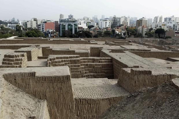 Complexo arqueológico que fica no bairro de Miraflores, em Lima. (Foto: Mariana Bazo/Reuters)