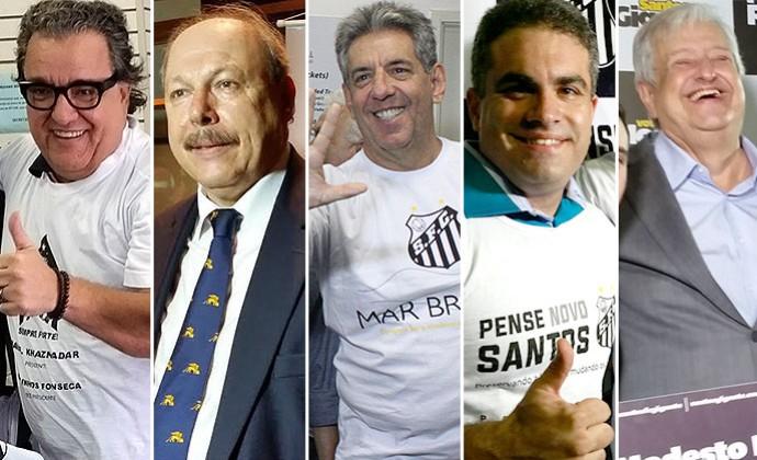 Montagem Santos candidatos Presidência  (Foto: Editoria de arte)