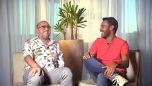 Pablo bate um papo animado com Xico Sá falando sobre o poliamor  (Divulgação)