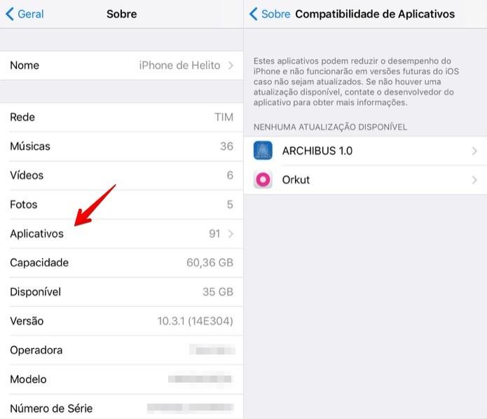 Verificando apps desatualizados (Foto: Reprodução/Helito Bijora)