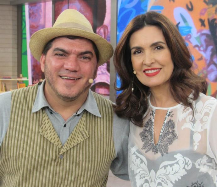 Fátima recebeu o barista Emílio Rodrigues no programa (Foto: Renata Viot/Gshow)