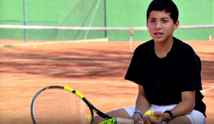 Victor Alves tenista euatleta (Foto: Reprodução TV Globo)