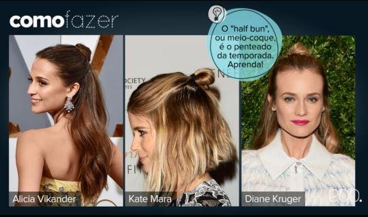 O cabeleireiro Tiago Parente ensina a modelo Danielle Pereira como fazer o half bun, penteado queridinho das famosas quando o assunto é beleza prática no dia a dia. Veja vídeo de passo a passo com dicas  (Foto: EGO)