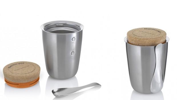 Lunchbox THERMO POT (R$ 250,00), da Bento Store | De aço inoxidável, permite selamento a vácuo. Capacidade térmica de até 6 horas. Garantia de 10 anos (Foto: Divulgação )