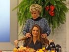 Ana Maria se surpreende com cabeleira, e Cláudia Abreu avisa: 'É todo meu'