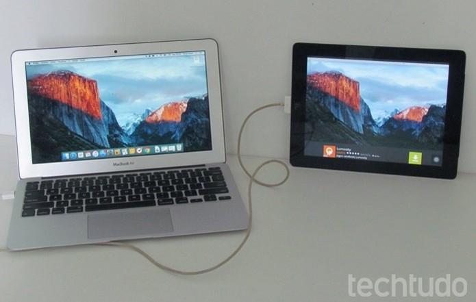 Use o iPad como um segundo monitor para o Mac (Foto: Paulo Alves/TechTudo )