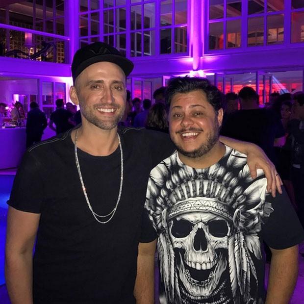 Paulo Gustavo e Marcus Majjela em festa na Zona Sul do Rio (Foto: Instagram/ Reprodução)