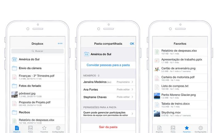 Agora é possível salvar arquivos na nuvem sem abrir o app do Dropbox (Foto: Divulgação/AppStore)