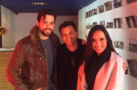 Pedro Carvalho, Gustavo Reiz e Manuela Duarte (Foto: Arquivo pessoal)