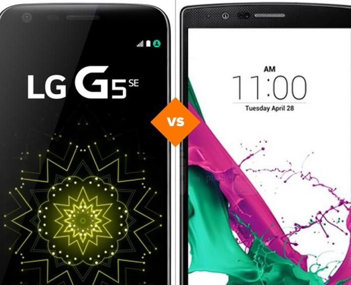 Confira o comparativo entre o LG G5 SE e o LG G4 (Foto: Arte/TechTudo)