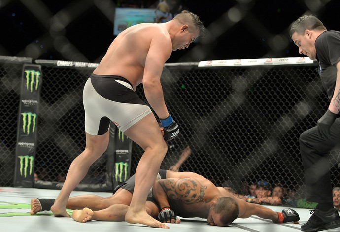 Steve Bosse James Te Huna UFC Brisbane (Foto: Getty Images)