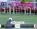Xabi Alonso e Vidal x 40 crianças: quem venceria? Site faz acontecer; assista