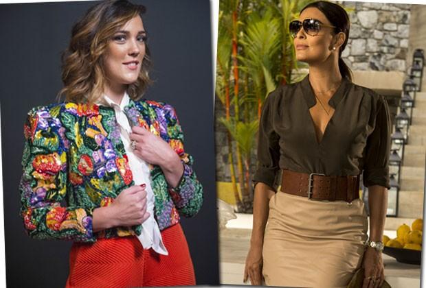 Adriana Birolli é diretora do site NeoTop e Juliana Paes da revista Totalmente Demais (Foto: Divulgação/TVGlobo)