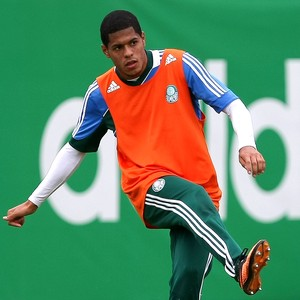 Leandro treino Palmeiras (Foto: CESAR GRECO)