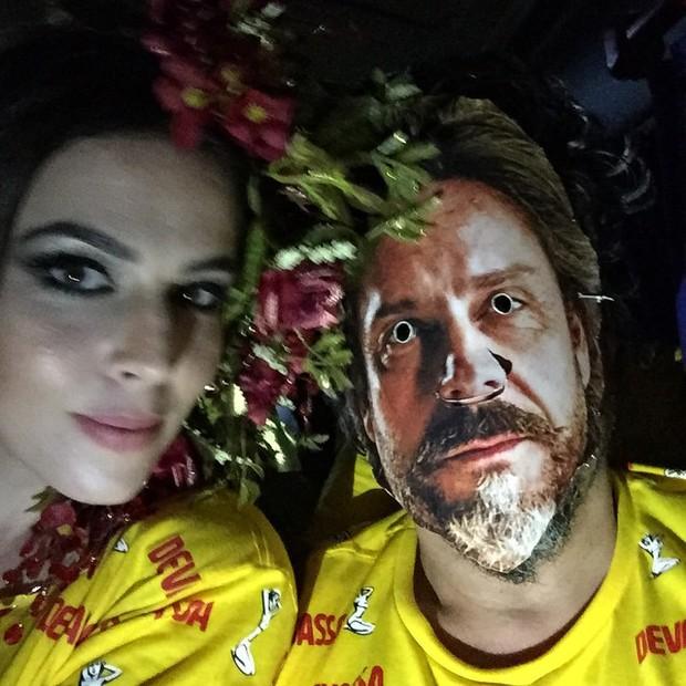 Karen Brustolini e Alexandre Nero  (Foto: Instagram / Reprodução)