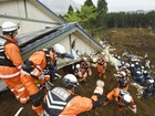 Número de mortos em terremotos no Japão sobe para 47