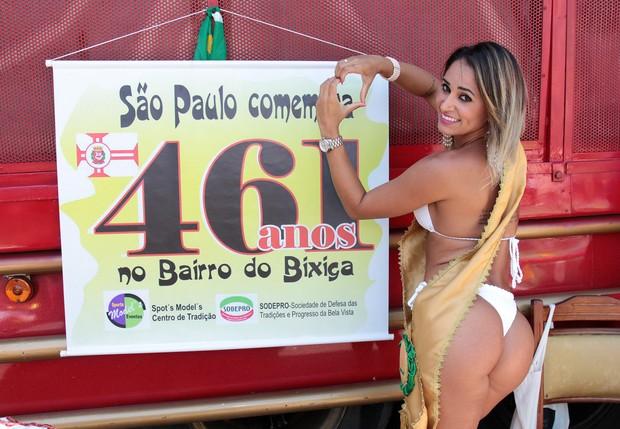 Aniversário de São Paulo - Gaby Rodrigues e Drag Tchaka (Foto: Celso Tavares/ EGO)