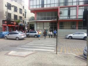 Rampa na Praça do Rosário, em Viçosa (Foto: Nathalie Guimarães/G1)