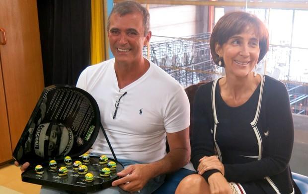 Tijuca Ayrton Senna - Paulo Barros e Viviane Senna (Foto: Felipe Siqueira)