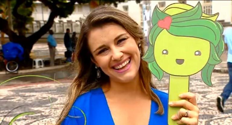 Priscilla Bitencourt faz reportagem para o Bem Estar (Foto: (Foto: Divulgação/TV Sergipe))