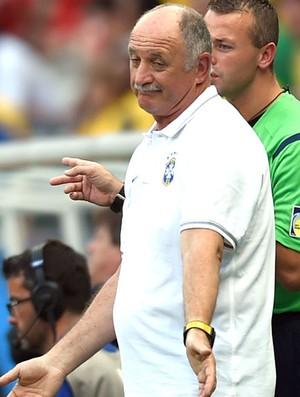 Felipão Scolari Brasil e México (Foto: Agência AFP )