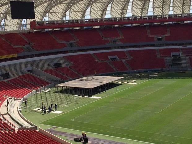 Beira-Rio receberá o show dos Rolling Stones na próxima quarta-feira (2) (Foto: Inter/Divulgação)