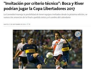 Boca e River La Nación (Foto: Reprodução)