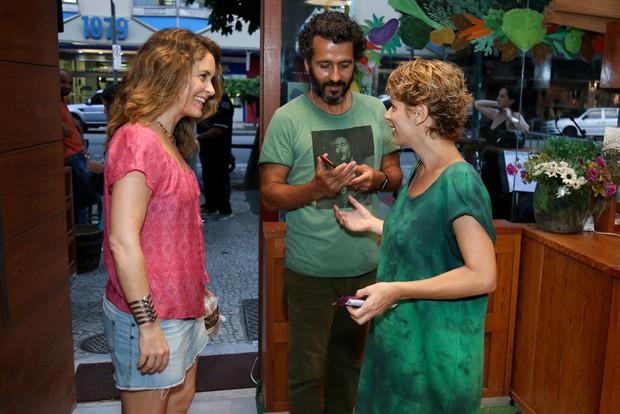 Claudia Abreu com Marcos Palmeira e Gabriela Gastal (Foto: Roberto Filho/Brazil News)