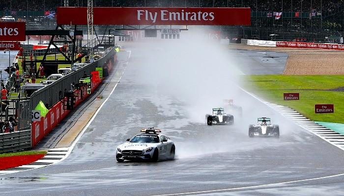 Largada do GP da Inglaterra de 2016