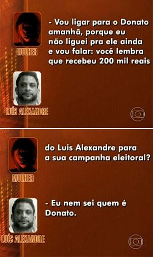 Escuta telefônica (Foto: TV Globo)