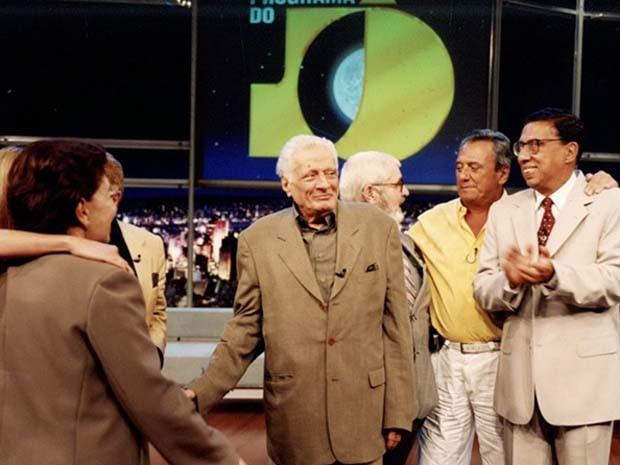 Max Nunes do Programa do Jô, com Agildo Ribeiro e Paulo Silvino (Foto: Zé Paulo Cardeal/TV Globo)