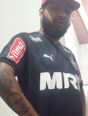 Ivan Carlos tatuagem Kalil atlético-mg galo