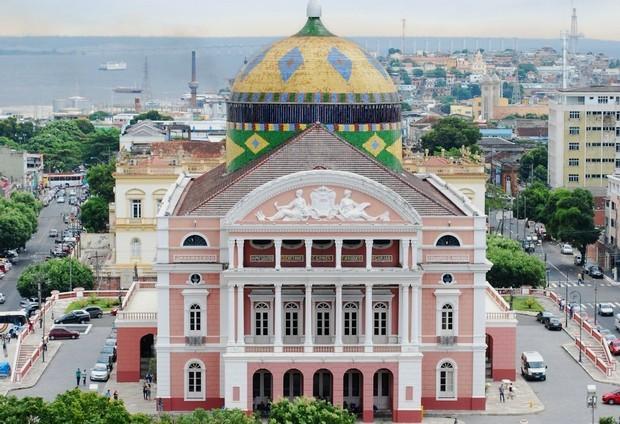 Teatro Amazonas inaugurado em 31 de dezembro de 1896 (Foto: AVG/ TV Amazonas)