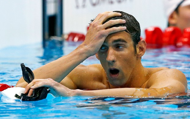 Michael Phelps prova de natação Londres (Foto: Reuters)