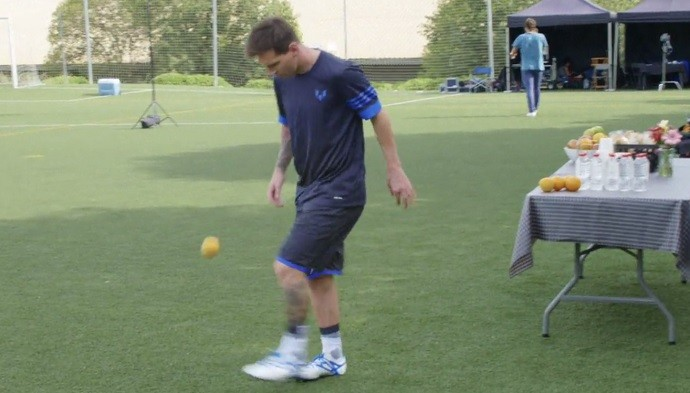 Messi Laranja Barcelona