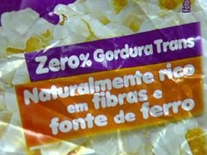 Rótulo pode conter a informação de zero trans  (Foto: Reprodução/EPTV)