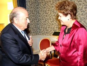 Dilma e Blatter durante encontro em Londres (Foto: Roberto Stuckert Filho/PR)