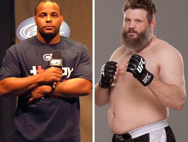 MONTAGEM - MMA Daniel Cormier e Roy Nelson (Foto: Editoria de arte)