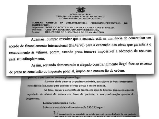 Habeas Corpus foi concedido pelo Tribunal de Justiça do Piauí (Foto: Reprodução)